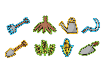 Agriculture Doodle Icons - vector #422271 gratis