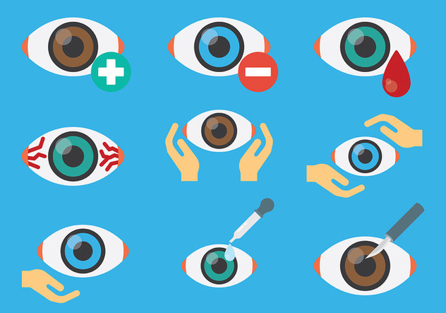 Free Eye Doctor Eye Icons Vector - vector #422451 gratis