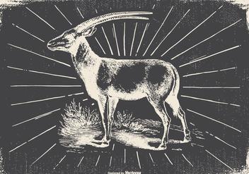 Vintage Antilope Illustration - vector gratuit #422491