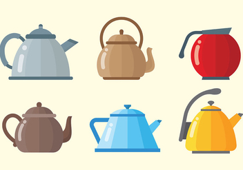 Modern Teapot Icons Vector - Free vector #422551