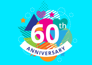 Free 60th Anniversary Background - vector #422571 gratis