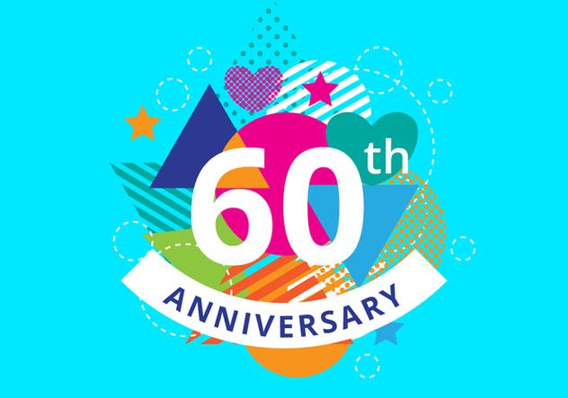 Free 60th Anniversary Background - vector #422571 gratis