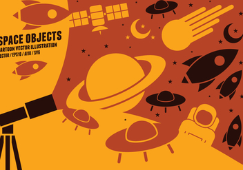 Space Object Icons - Free vector #422581