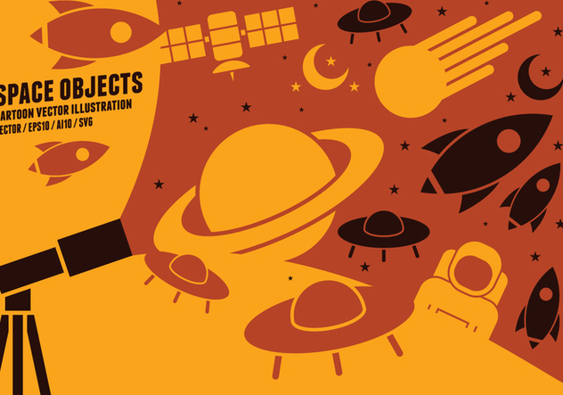 Space Object Icons - vector #422581 gratis