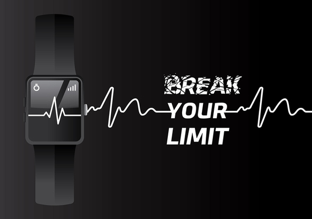 Heart Rate Fit Tracker Free Vector - Free vector #422651