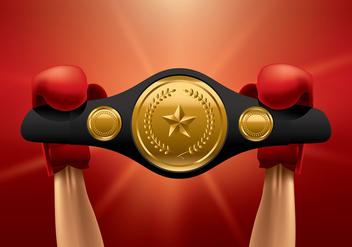 Championship Belt Winner Vector - vector gratuit #422851