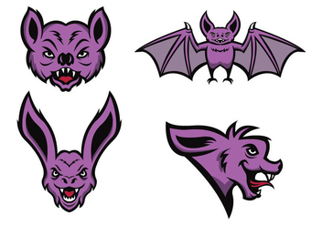 Free Bats Mascot Vector - Kostenloses vector #422881