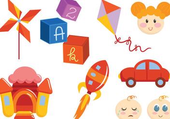 Free Toys and Children Vectors - бесплатный vector #422891