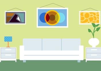 Free Vector Room Illustration - бесплатный vector #423131