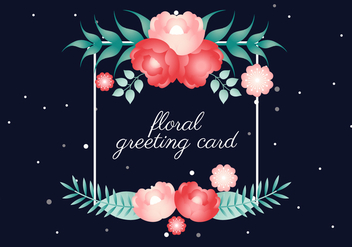 Free Vector Spring Flower Greeting Card - Free vector #423141
