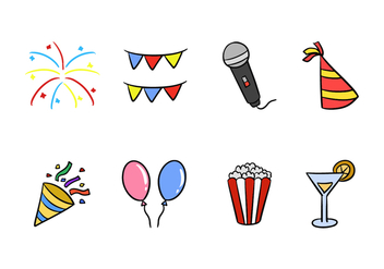 Festival Icons - Free vector #423181