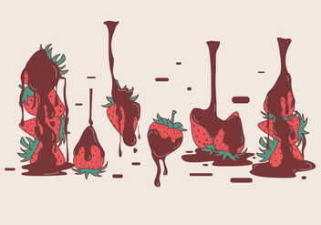 Chocolate Covered Strawberry Vectors - Free vector #423271