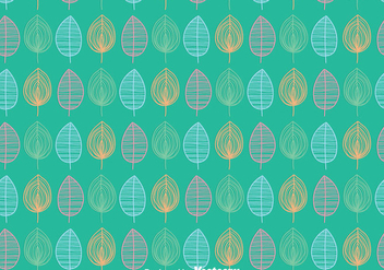 Leaves Ornament Pattern Background - Kostenloses vector #423391