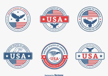 Colored USA Eagle Seal Vector Set - Kostenloses vector #423571