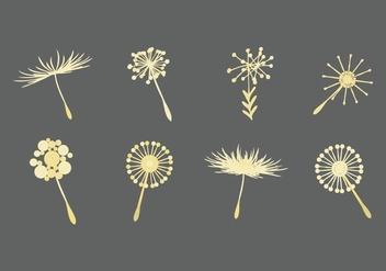 Free Dandelion Icons Vector - vector gratuit #423651