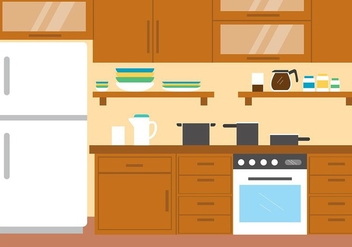 Free Vector Kitchen Illustration - Free vector #423761
