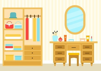 Free Bedroom Interior Vector - Free vector #423861