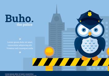 Buho Police Character Vector - Kostenloses vector #423871