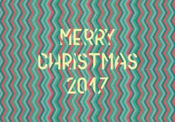 Merry Christmas Chevron Vector - vector #424071 gratis