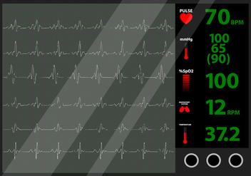 Heart Beat Monitor - Free vector #424101