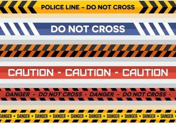 Free Police Line Vectors - Free vector #424901