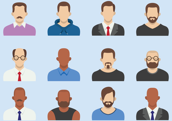 Men Business Flat Avatars - Free vector #425231