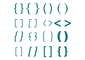 Turquoise Brackets - Free vector #425741