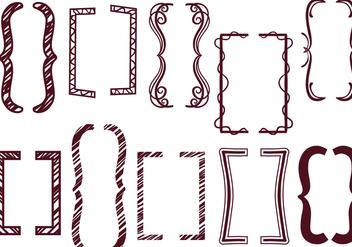 Free Funky Brackets Vectors - vector #425831 gratis
