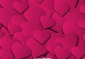 Pink Hearts Seamless Pattern - Vector - Free vector #425961