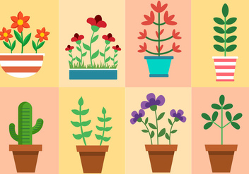 Free Plants And Flowers Vector - Kostenloses vector #426041