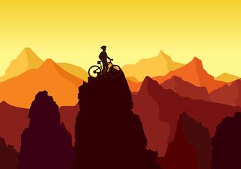Bike Trail Peak Rock Free Vector - Free vector #426181