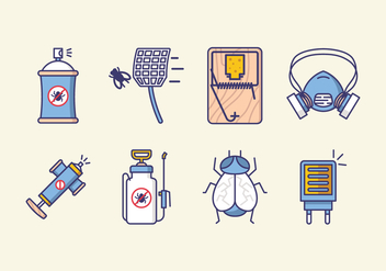 Pest Control Icons - Free vector #426621