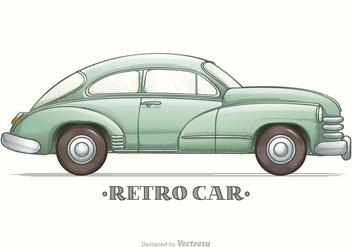 Colored Hand Drawn Sketch Retro Car Vector - vector #426701 gratis