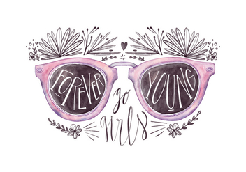 Free Sunglasses Quote - vector gratuit #426781
