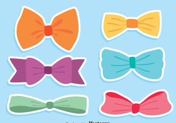 Colorful Hair Ribbon Vectors - Free vector #426801