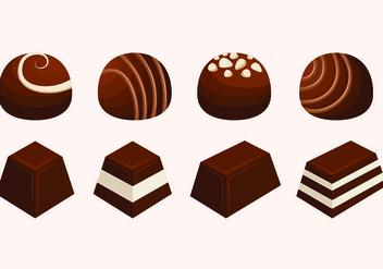 Set Of Chocolate Vectors - Kostenloses vector #426871