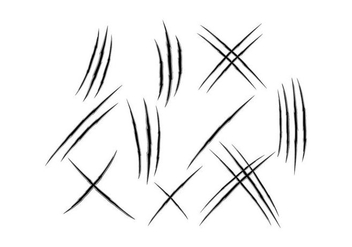 Free Scratch Marks Vector - Free vector #427091