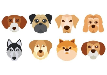 Free Dog Face Vector - vector gratuit #427161