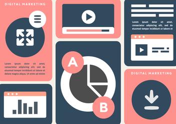 Free Digital Marketing Business Vector Illustration - бесплатный vector #427361