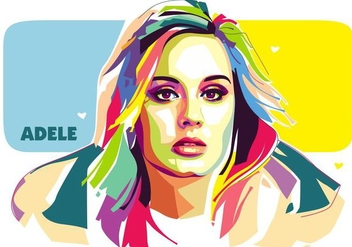 Adele Vector Popart Portrait - Kostenloses vector #427371