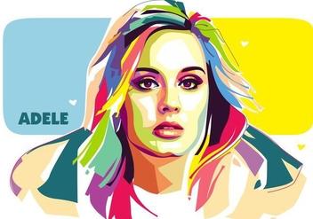 Adele Vector Popart Portrait - бесплатный vector #427371
