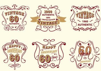 Vintage Label Scrollwork Vector Pack - бесплатный vector #427481