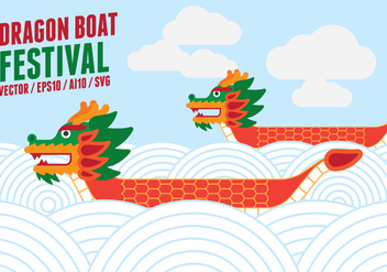 Dragon Boat Racing Illustration - Free vector #427591