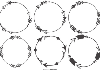 Hand Drawn Arrow Frames Collection - Free vector #427601