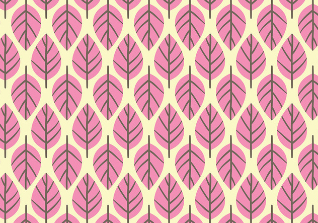 Pink Leaf Background Daun Vector - Free vector #427671