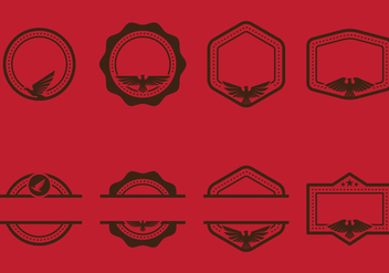 Eagle Seal Stempel Emblems With Copyspace Vectors - Kostenloses vector #427701