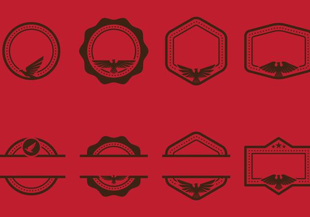 Eagle Seal Stempel Emblems With Copyspace Vectors - vector gratuit #427701