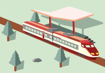 TGV Vector Mockup Art - vector gratuit #427731