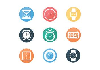 Various Timer Icon Free Vectors - vector #427971 gratis