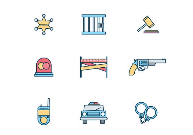 Police Icons - бесплатный vector #428231